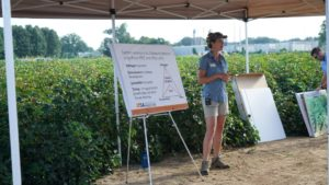 Presentation being delivered at Cotton Tour